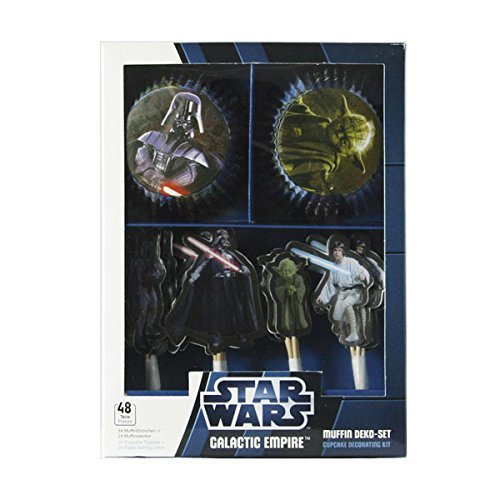 "Dekoback 01-14-00508 - Set per muffin ""Impero Galattico Guerre Stellari"", 48 pezzi"