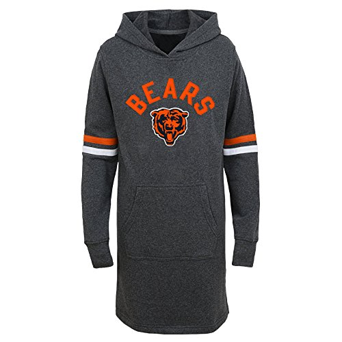 Chicago Tunika (Outerstuff NFL Chicago Bears Jungen Youth Jump Off Hood Long Sleeve Tunika, Mädchen, 9K1G6FAJ3 BRS -GXL16, anthrazit, Jugendliche XL)
