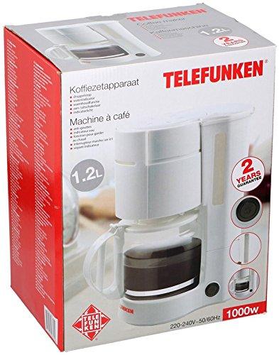 Telefunken 96325macchina per il caffè, 1,2l, 1000W, bianco