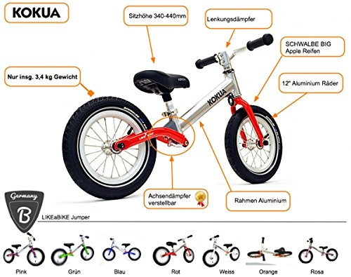 Kokua likea Bike Roue Jumper avec axe centrale de rebond couleur rose