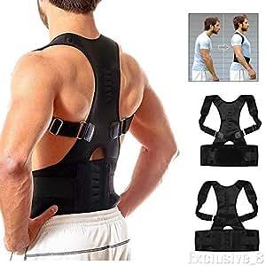 TIRTH FASHION WORLD Real Doctor Posture Corrector, Shoulder Back Support Belt for Men and Women (Black)