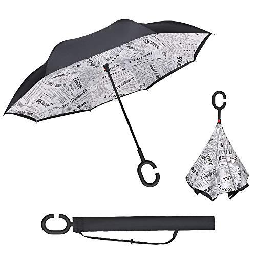 Vicloon Paraguas Invertido de Doble Capa