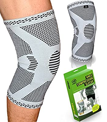 ce9598d938 Knee support for ligament injury, compression knee sleeve. Knee ...