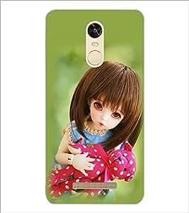 PrintDhaba Beautiful Doll D-1073 Back Case Cover for XIAOMI REDMI NOTE 3 (MEDIATEK) (Multi-Coloured)