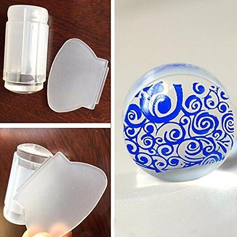 Susentstone Tampon racloir pour Nail Art et manucure Transparent
