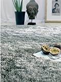 Benuta Teppiche: Hochflor Teppich Whisper Quadratisch Grau 200x200 cm - schadstofffrei - 100% Polyester - Uni - Handgetufted - Wohnzimmer