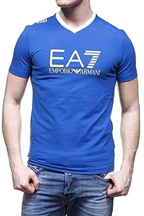 EA7 Emporio Armani - T Shirt 273814 5p254 Bleu Electrique - Couleur Bleu - Taille L