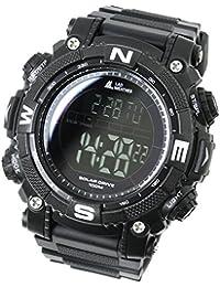 [Lad Weather] - Reloj digital con potente batería solar resistente al agua hasta 100metros SmartWatch, militar, para exterior