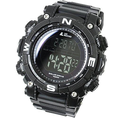 [LAD WEATHER] Orologio digitale con Potente batteria solare resistente all'acqua fino a 100 metri Smartwatch Militare per Esterni