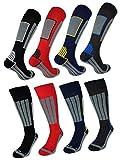 2 oder 4 Paar Ski Kniestrümpfe Damen & Herren mit COOLMAX Faser - 41533 (43-46, 2 Paar | Farbmix)