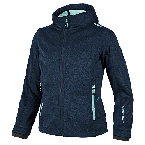 CMP Softshell-Regen-Outdoor-Jacke für Kinder Maria, Farbe:Navy-Mel-Giada, Größe:104