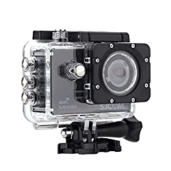 SJCAM SJ5000 WIFI Novatek 96655 14MP 170° Wide Angle 2.0'' LCD 1080P Sport Action Camera Waterproof Cam HD Camcorder Outdoor for Vehicle Diving Swimming (Black)