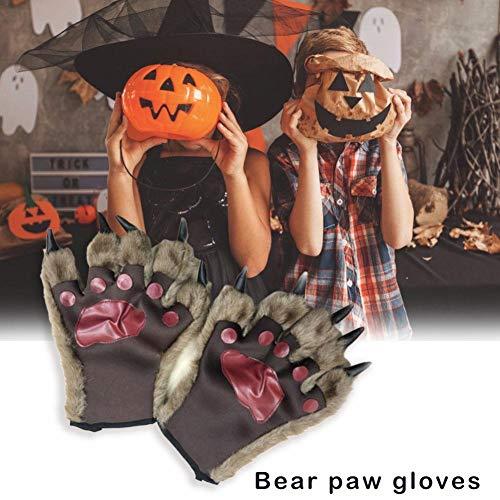 Bestlle Bear Paws Handschuhe Werwolf Handschuhe Halloween - Bear Paw Handschuhe Kostüm