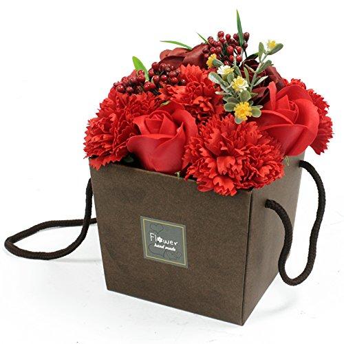 Rote Rose Und Nelke Seife Blume Blumenstrauß