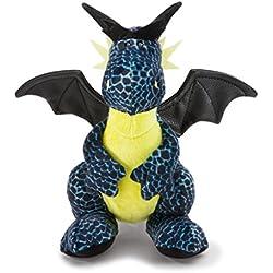 NICI Dragón de Hielo Sentado, Color Negro y Azul, 20 cm (40773)