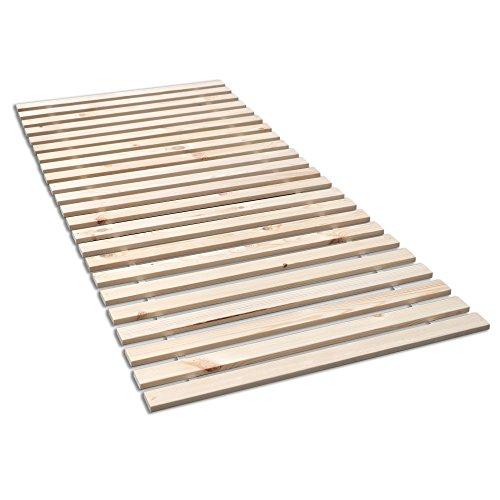 Madera Fichten Rollrost, Massives Fichtenholz mit 23 Leisten und Befestigungsschrauben - Grösse 90x200