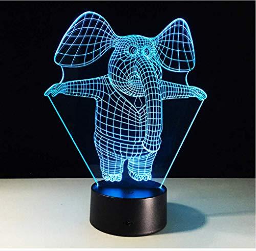 zwylove Increíble 3D Illusion LED Lámpara de mesa Luz de noche con...