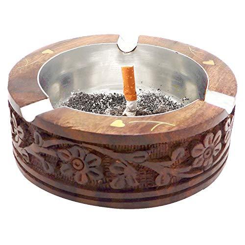 Gracias que da el regalo del día o de la Navidad, cenicero de madera del diseño de talla redonda, cenicero de la tabla, cenicero del cigarrillo, tenedor del cigarrillo, cenicero para el cigarrillo, ce