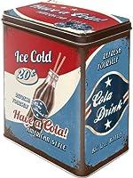 Boite de rangement en métal vintage Have a Cola! American Style - 10x14x20 cm