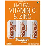 Fast&Up Charge - Vitamin C - Zinc - Natural Amla Extract - Antioxidants - Immunity - skin care - family pack - 60 Effervescent Tablets - Orange Flavor