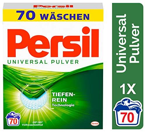 Persil Universal Pulver, Vollwaschmittel mit Tiefenrein-Technologie (1 x 70 Waschladungen) (Hohe Waschmittel)