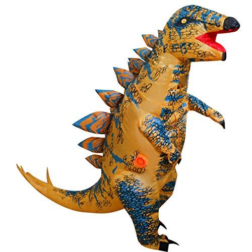 LOLANTA Erwachsene Kinderaufblasbares Dinosaurier Kostüm Halloween Fun Run Party Kostüme (Stegosaurus, Kinder)