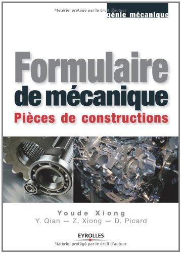 Formulaire de mécanique: Pièces de construction