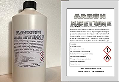 Aaron Acetone mini bottle & 1000ml refil (pure acetone cleaner) PARCELFORCE CHEMICAL REGULATED COURIER DELIVERY delivered safely to your door