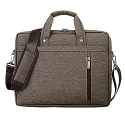 LOSORN ZPY 13-17 Zoll Laptop Tasche mit Schultergurt Aktentasche für Laptop/Notebook Computer/MacBook (17 Zoll, Braun)