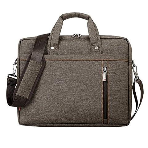 LOSORN ZPY 13-17 Zoll Laptop Tasche mit Schultergurt Aktentasche für Laptop / Notebook Computer / MacBook (15 Zoll, Braun)