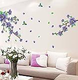 UberLyfe Glorious Purple Flowers Wall St...
