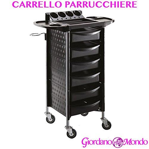 Carrello parrucchiere / barbiere porta attrezzi a 5 cassetti + accessori professionale