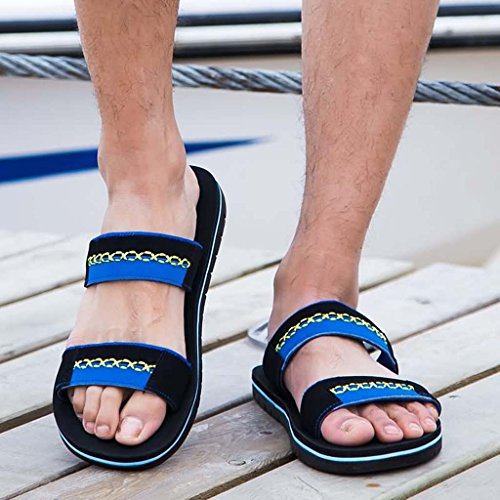 ZXCV Scarpe all'aperto Sandali aperti da uomo Men On The Beach Sandals Open Blu