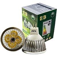 EnergyBrite - Bombilla LED (MR16, 4 W, 12 V LED, GU5.3, 6000 k, 50 W, bajo consumo)