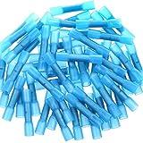 80 Stücke Isolierte Quetschverbinder, Airic Schrumpfschlauch Wasserdicht Quetschverbinder Blau Kabelverbinder 12-10 Gauge Heat Shrink Butt Splice Connectors