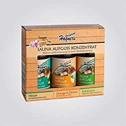 Original Hagners Sauna-Aufguss-Konzentrate 3er Set Minze - Orange & Zitrone - Eukalyptus je 50 ml