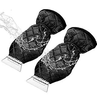 leegoal EIS-Spachtel Handschuhe für Auto, Schaber Mitt Windschutzscheibe Schnee Schaber Auto Winter Mitt Eiskratzer mit wasserdichter Handschuh für Auto-LKW-Windschutzscheibe-Fenster