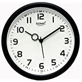 SD Enterprises Sonic Black & White Color Wall Clock / Watch ,Gifts,Descent for Home and Office(Black:White)