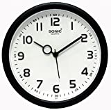 #4: SD Enterprises Sonic Black & White Color Wall Clock / Watch ,Gifts,Descent for Home and Office(Black:White)