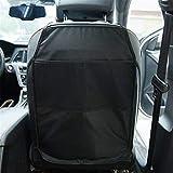 Dbtxwd 2Pcs Car Seat Kick Mat Protector, Organizer Per Sedile Posteriore Impermeabile Con Tasche A Rete, Protezioni Antimacchia, Nero