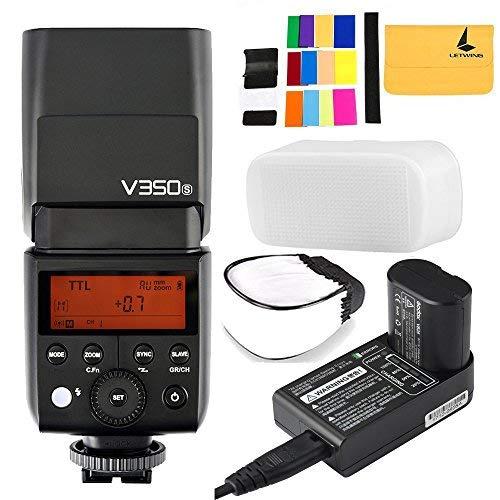 Godox V350S TTL 2.4G Kamera Blitz mit Eingebautem Wiederaufladbaren 7,2 V/2000 mAh Li-Ion Akku für Sony a7RIII a7RII a7R a58 a99 ILCE600L a77II RX10 a9 etc -