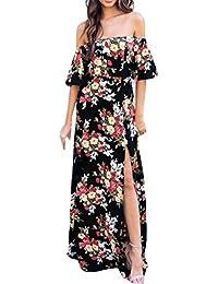 3e3917db82561 DAY8 Robe Femme Chic Soiree Robe Longue Femme Été Grande Taille Manches  Courtes Femme Vetement Pas