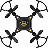 Price comparsion for FQ777 127 Mini Foldable RC Quadcopter Drone with 2.4GHZ 4CH 6-axis Gyro Remote Contro Headless Mode One-key Return Function Nano Hexacopter Quad for Beginners(Black)