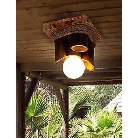 LYNDM-Mejor regalo de Navidad, Flush MountStyle Vintage dormitorio / Comedor / cocina / y habitación/oficina/sala de juegos / Pasillo de madera/Bambú , blanco