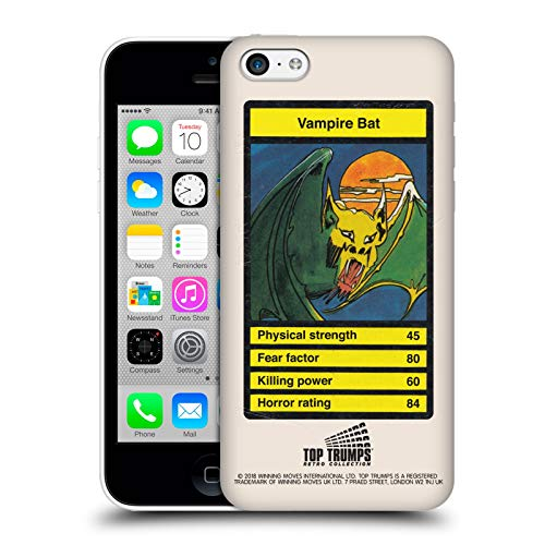 Head Case Designs Offizielle Top Trumps Vampir Bat Horror Retro Harte Rueckseiten Huelle kompatibel mit iPhone 5c (Bat 5c Phone Case)