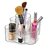 mDesign Kosmetik-Organizer aus Kunststoff - clevere Make-Up Aufbewahrung auf Drehteller - Schminkaufbewahrung leicht gemacht - Make-Up Aufbewahrung in 5 praktischen Fächern