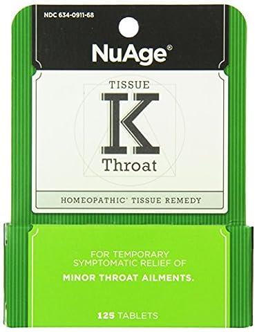 NuAge, Tissue K Throat, 125 Tablets