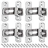 KingYH 4 pezzi serratura porta 90 gradi fibbia per porta finestra mobili e WC chiusura scorrevole porta maniglia