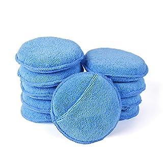 Microfaser Wachs Applikator, AutoCare Ultra Soft Microfaser Wachs Applikator Pads Mit Fingertaschen Wachs Applikator Für Autos Wachs Applikator Schaumschwamm (Blau, 5
