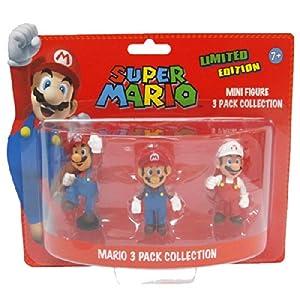 BG Games Mario - Juguetes y Figuras de Videojuegos (Azul, Rojo, Color Blanco) - Figura Pack 3 Mini Figuras Super Mario 9